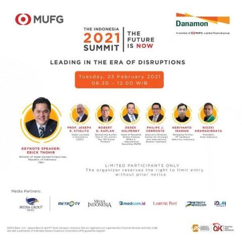 MUFG dan Danamon Bahas Peluang Kebangkitan Ekonomi 2021 di The Indonesia 2021 Summit Jakarta