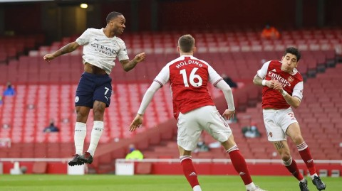 Arsenal vs Manchester City: Sterling Menangkan The Sky Blues