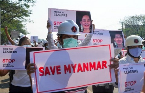 Terpopuler Internasional: Mogok Massal Myanmar hingga Menteri Libya Lolos Pembunuhan