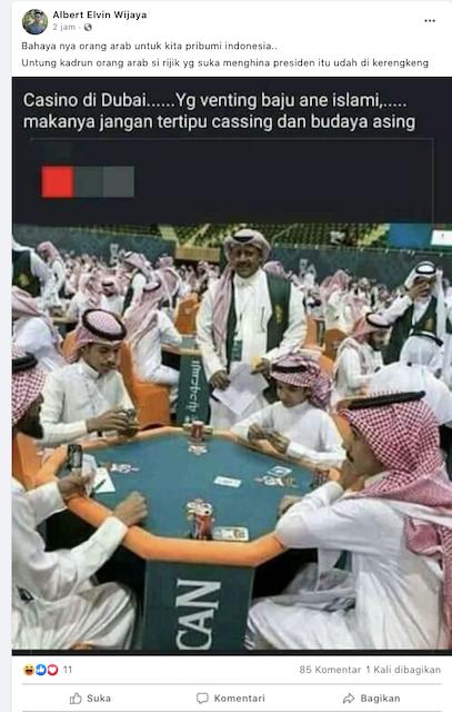[Cek Fakta] Foto Sejumlah Pria Berbaju Islami di Casino Dubai? Ini Faktanya
