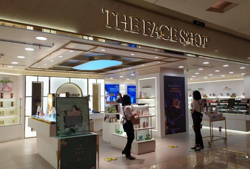 Di gerai ini terdapat satu corner khusus yang menampilkan seluruh rangkaian mask andalan The Face Shop. (Foto: Dok. Yuni/Medcom.id)