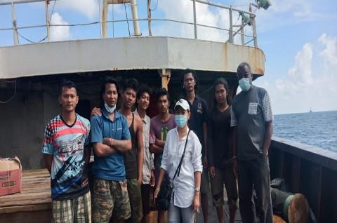 KBRI Antananarivo Dampingi Kepulangan 7 ABK WNI