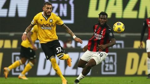AC Milan vs Udinese: Dramatis, Milan Imbangi Udinese