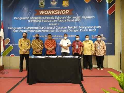 SMK di Papua dan Papua Barat Teken MoU dengan 22 Perusahaan