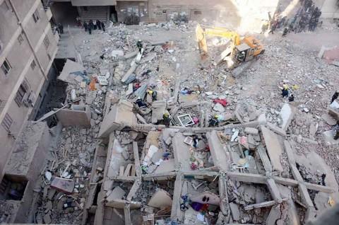 5 Orang Tewas dalam Insiden Bangunan Roboh di Kairo