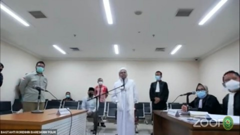 1.194 Personel Jaga Sidang Lanjutan Rizieq Shihab
