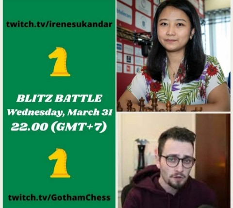 Ini Link Live Streaming Duel Catur GM Irene Sukandar vs Gothamchess