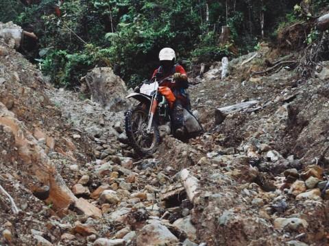 Ibnu Jamil Motoran di Kalimantan, 200 KM Ditempuh 6 Hari