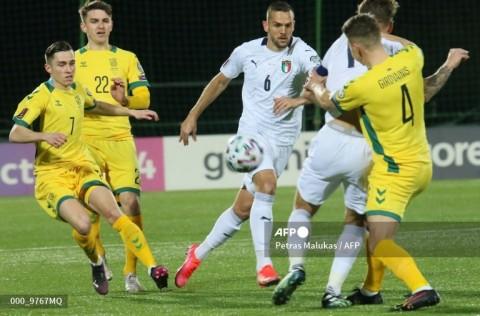 Kualifikasi Piala Dunia Zona Eropa: Italia Kerja Keras Bungkam Lithuania