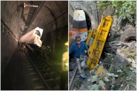 Kereta Keluar Jalur di Dalam Terowongan Taiwan, Empat Orang Tewas