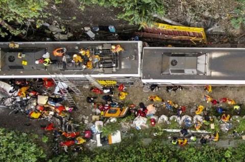 Korban Tewas Kecelakaan Kereta Taiwan Jadi 50 Orang