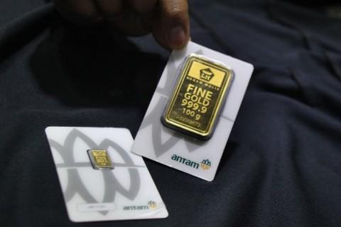 Harga Emas 24 Karat Antam Stagnan di Akhir Pekan
