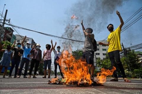 Korban Tewas Kekerasan Militer Myanmar Capai 550 Jiwa
