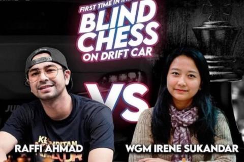 Wow, Duel Catur GM Irene vs Raffi Ahmad Tembus Rekor MURI