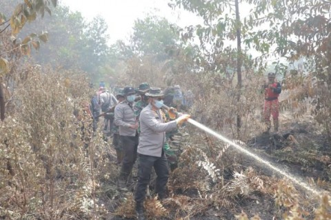 Polda Riau Tangkap 10 Tersangka Karhutla
