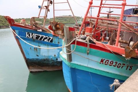 KKP Sita 2 Kapal Pelaku Illegal Fishing di Natuna Utara