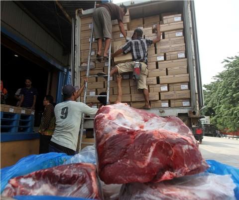Stok Daging Beku di Bulog Belitung Capai 7,6 Ton
