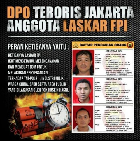 Densus 88 Buru 3 Teroris di Jakarta
