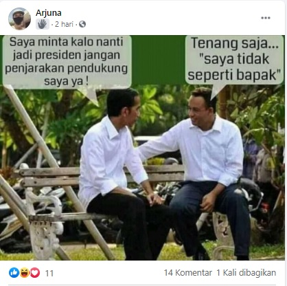 [Cek Fakta] Jokowi Minta Anies Tak Penjarakan Pendukungnya Jika Jadi Presiden? Ini Faktanya