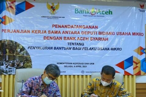 Bank Aceh Syariah Jadi Penyalur Bantuan Pelaku Usaha Mikro 2021