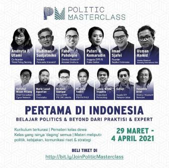 Kelas Politik Virtual Politic MasterClass Digemari Anak Muda