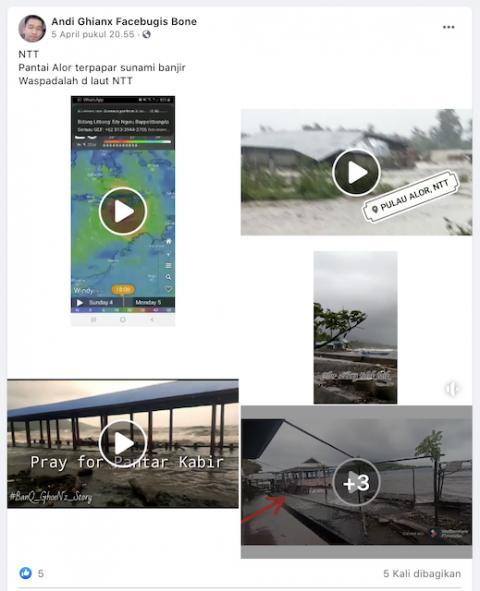 [Cek Fakta] Beredar Video Pantai Alor NTT Tersapu Tsunami? Ini Faktanya