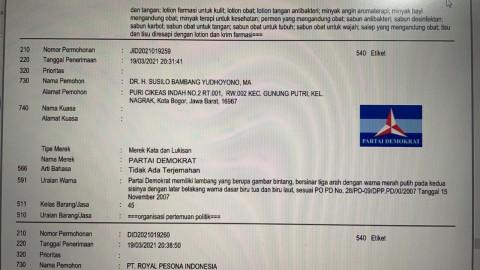 Daftarkan Haki Pribadi Melalui Perusahaan Kosmetik, SBY Disebut Ingin Merampok Demokrat