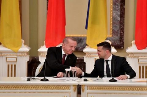 Bertemu Presiden Ukraina, Erdogan Serukan Laut Hitam yang Damai