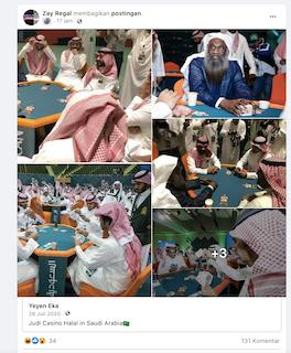 [Cek Fakta] Foto Penampakan Judi Casino Halal di Arab Saudi? Ini Faktanya