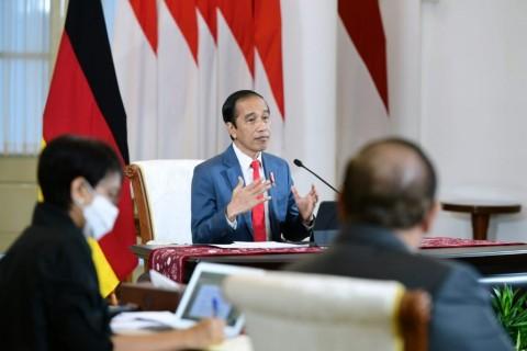 Jokowi, Merkel Hold Virtual Bilateral Meeting