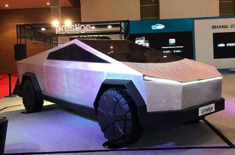 Ada Tesla Cybertruck Mejeng IIMS 2021