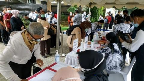 Jelang Ujian Tatap Muka, 689 Guru di Kudus Jalani Vaksinasi Covid-19
