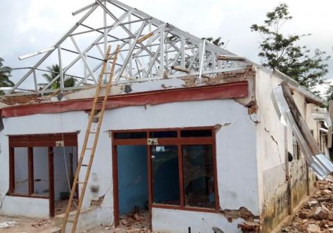 Rumah Korban Gempa Malang Mulai Dibangun