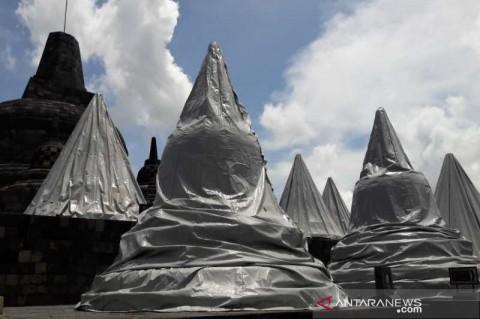 Penutup Stupa Candi Borobudur Dipertahanakan Sementara