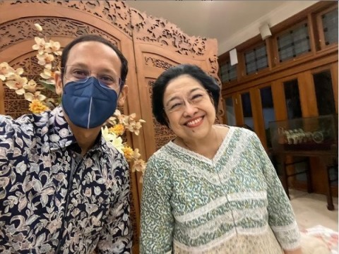 Bertemu Megawati, Nadiem Bungkam saat Dikaitkan dengan Isu Reshuffle