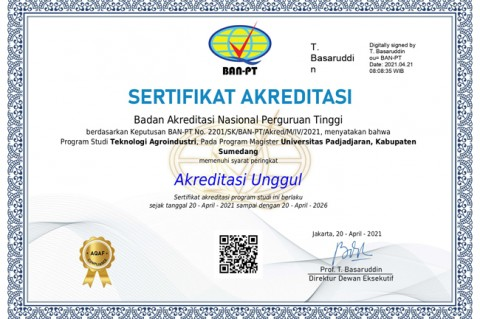 Magister Teknologi Agroindustri Unpad Raih Akreditasi Unggul