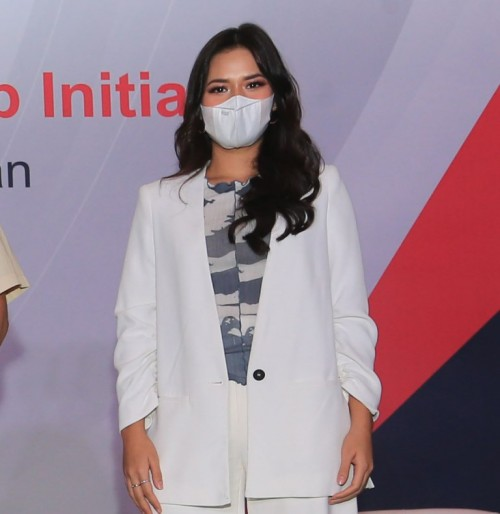 Raisa dalam Peluncuran Bayer Nutrient Gap Initiative (Foto: Bayer Indonesia)