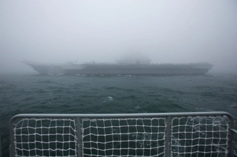 Kapal Induk Tiongkok Berlatih di Laut China Selatan