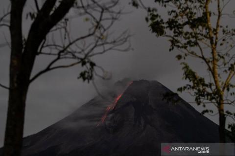 Gunung Merapi Meluncurkan Awan Panas dan Lava Pijar