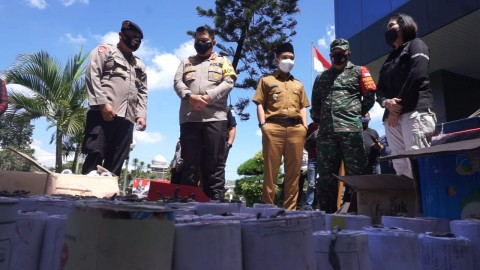 Tiga Home Industri Petasan di Mojokerto Digerebek Polisi