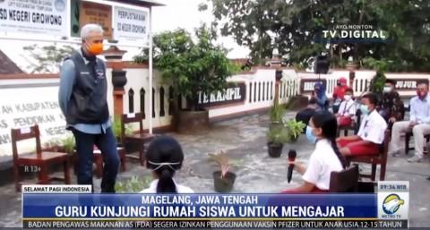 Peringati Hardiknas, Ganjar Pranowo Tinjau Sekolah yang Kesulitan Akses Sinyal