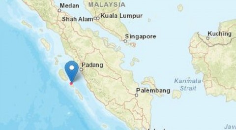Tuapejat Kepulauan Mentawai Diguncang Gempa 5,8 Magnitudo