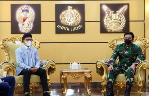 Menkominfo Ingin Perkuat Ketahanan Sektor Digital dengan Panglima TNI