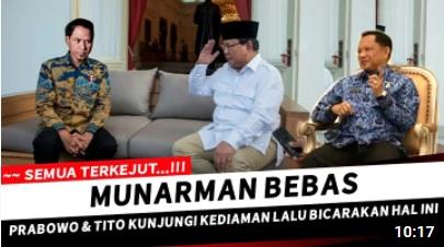 [Cek Fakta] Dikunjungi Prabowo, Munarman Akhirnya Bebas? Ini Faktanya