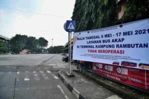 Larangan Mudik, Bus AKAP di Terminal Kampung Rambutan Tak Beroperasi