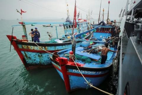 KKP Lumpuhkan 84 Kapal Pencuri Ikan di 2021