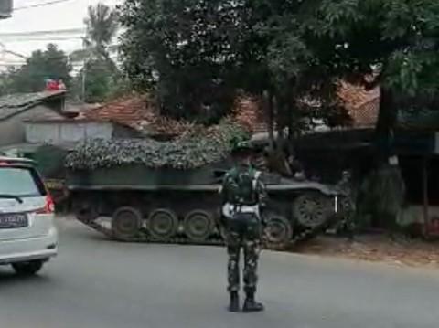 Video Viral Tank TNI AD Sekat Arus Mudik Hoaks