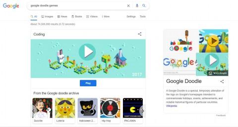 Ada Game di Google Doodle, Begini Cara Menemukannya