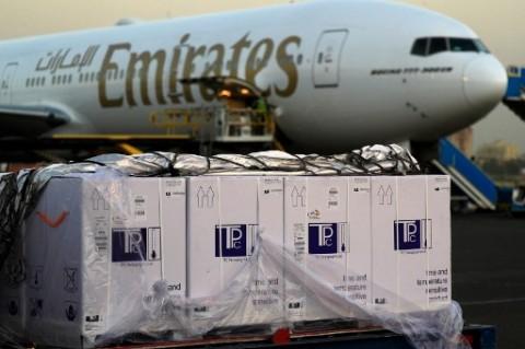 Maskapai Emirates Bebaskan Biaya Pengiriman Bantuan ke India