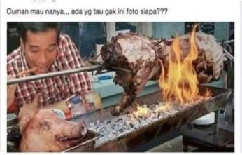 [Cek Fakta] Foto Jokowi Tengah Menyantap Babi Panggang Hoaks, Ini Faktanya